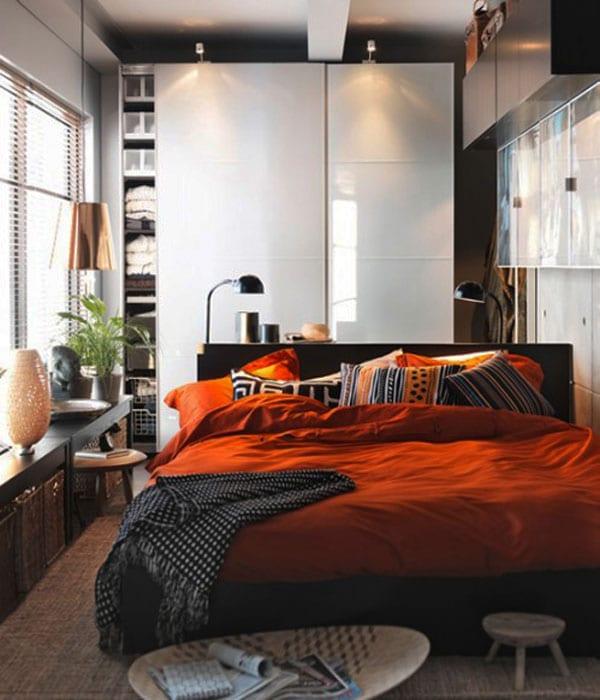 40 идей как визуально увеличить маленькую спальню