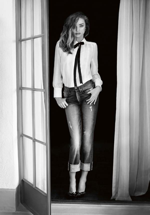 Рекламная кампания джинсов 2014 c Miranda Kerr