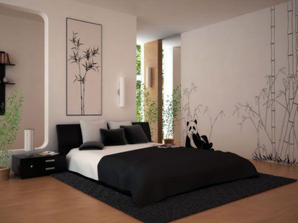 black-whuite-bedroom-decoration-interesting-wallpaper