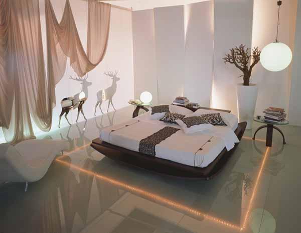 Интерьеры комнат спальных комнат