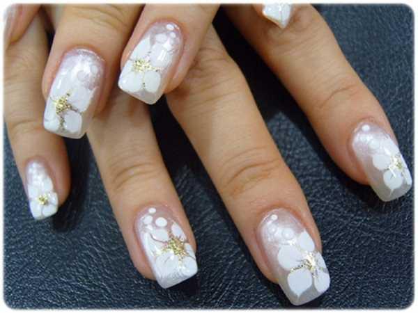 14221__600x1240_floral-wedding-nail-art10 Идеи свадебного маникюра в цветочной тематике