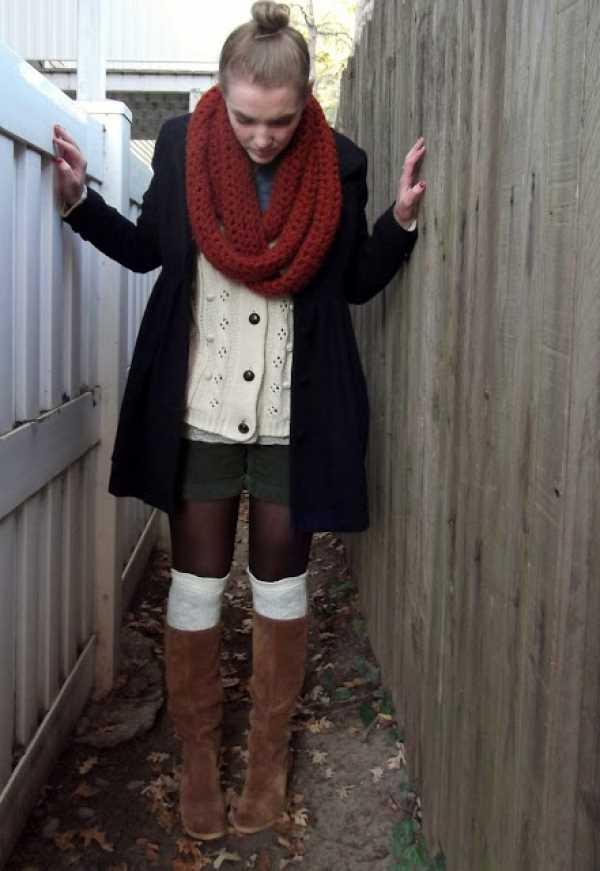 С чем носить шорты осенью и зимой