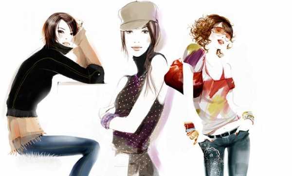 Фэшн иллюстрации девушек от Sophie Griotto