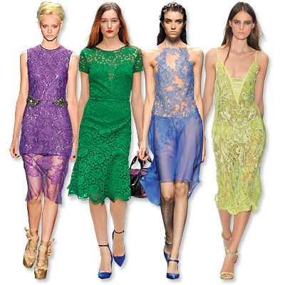 Платья с кружевом на 2014 год