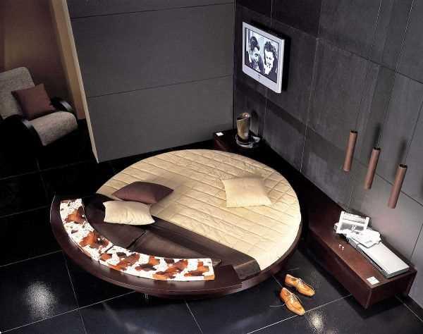 идеи для спальни с круглой кроватью
