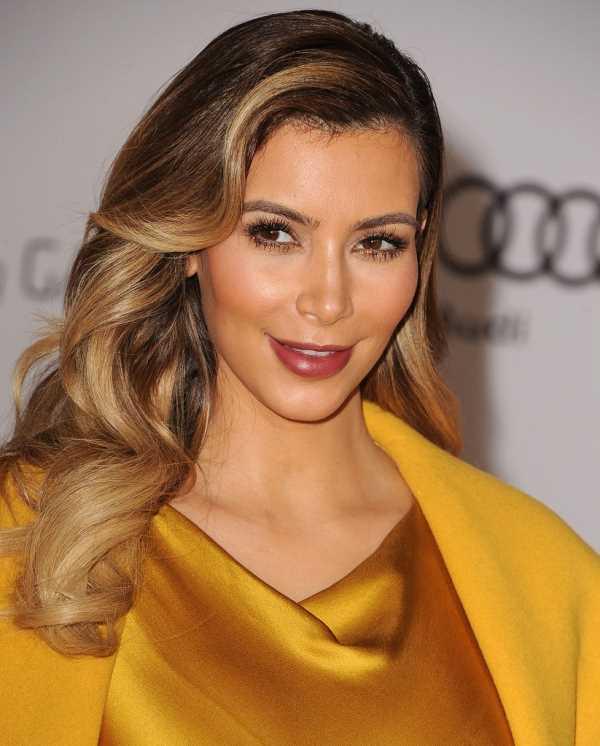 блестящие локоны от Kim Kardashian (Ким Кардашян)