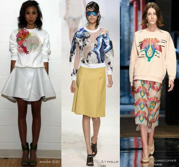 С чем носить женские свитшоты 2014