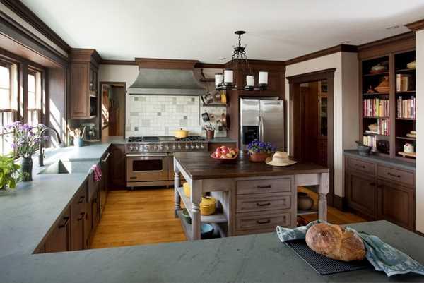 натуральные материалы на современной кухне