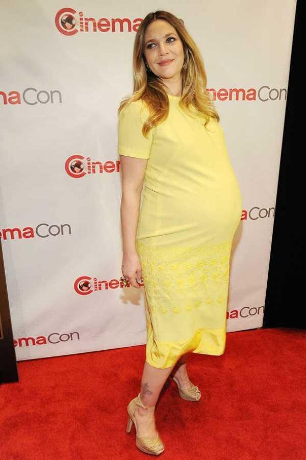 drew-barrymore Как одеваются беременные звезды