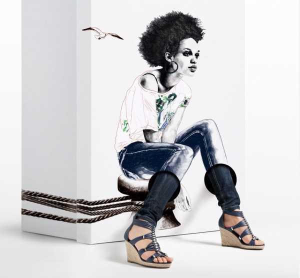 Рекламная компания обуви