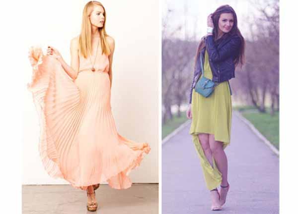 Стильные шифоновые платья на весну 2014 года