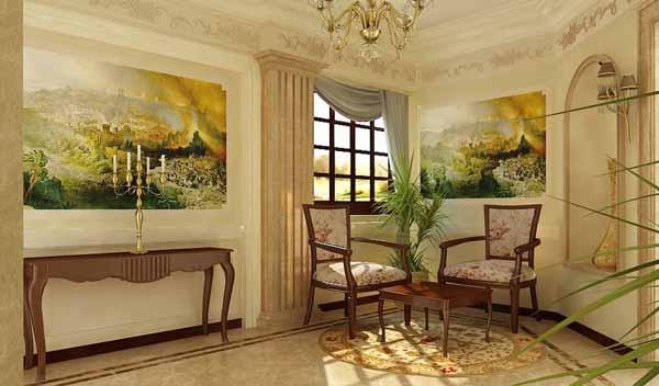 Материи в интерьере стиля классицизм уделялось особое внимание.