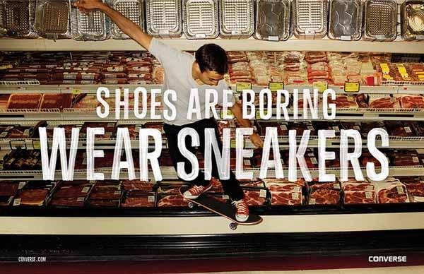 Рекламная кампания кедов от Converse