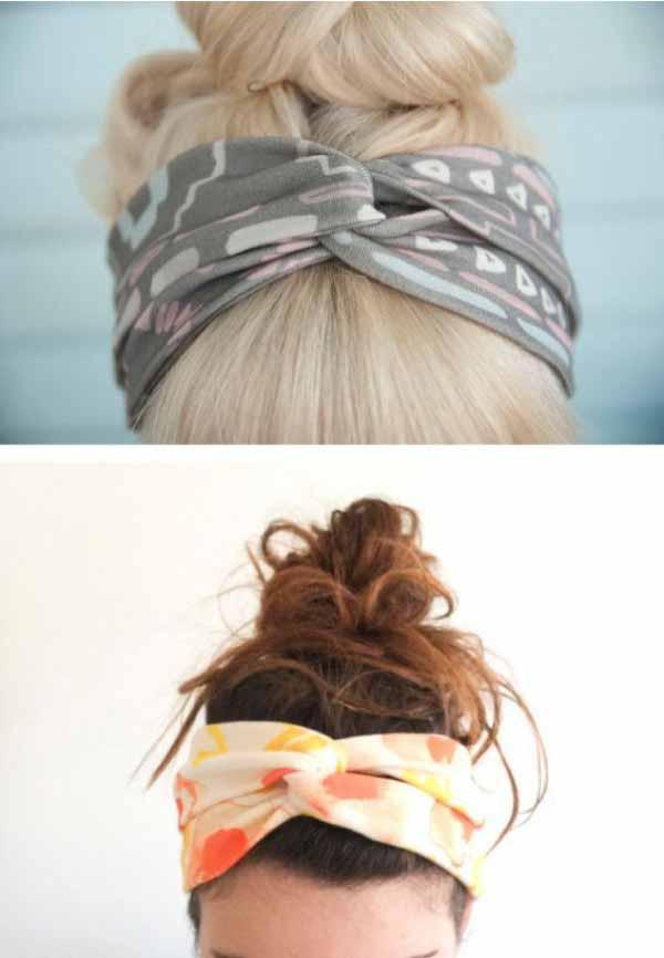 Как сделать повязку косынку на голову своими руками