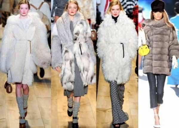 Фасоны шуб и меховых пальто зима 2014