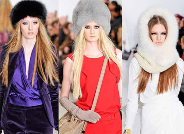 Стильные женские меховые шапки 2014
