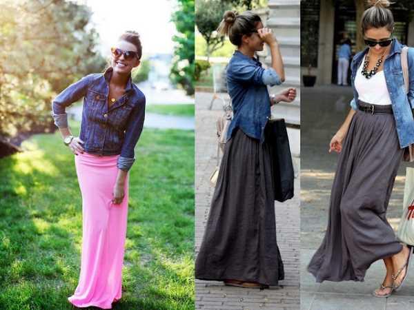 Как и с чем носить макси юбки