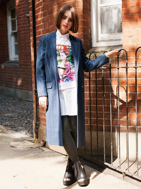 Lily Collins для октябрьского ASOS Magazine