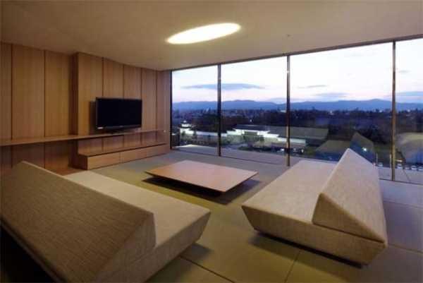 Современная гостиная в японском стиле