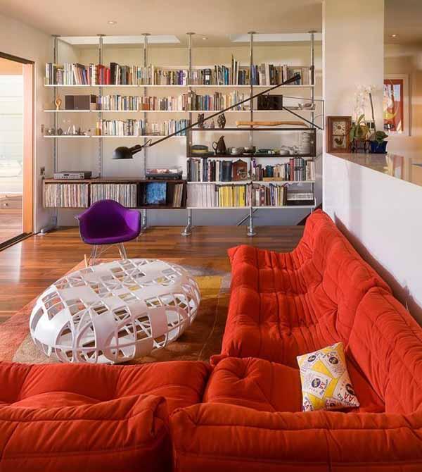 Современный дизайн интерьера гостиной в стиле минимализм