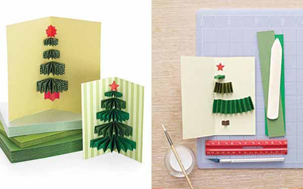 Как сделать новогоднюю открытку папе