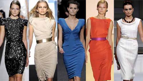 С чем носить универсальное платье футляр