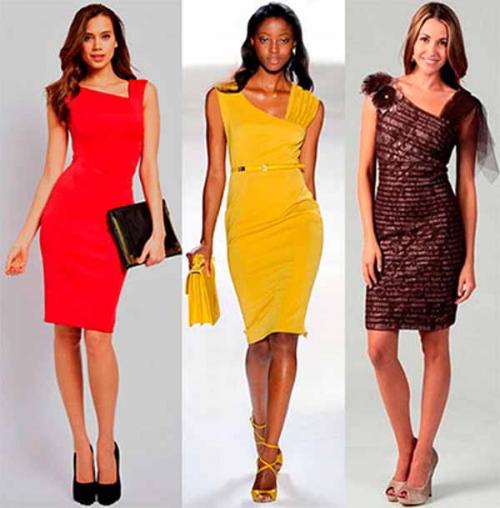 C чем носить платье футляр