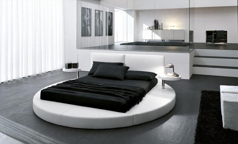 спальни в черно-белых тонах