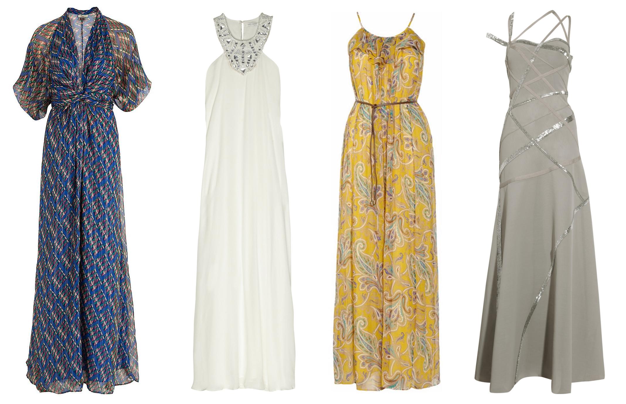 Шифоновые длинные платья 2012-2013