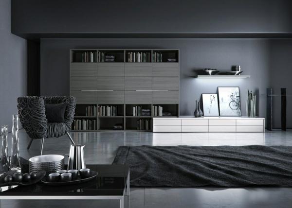 Перспективные и современные идеи дизайна гостиной в черном цвете