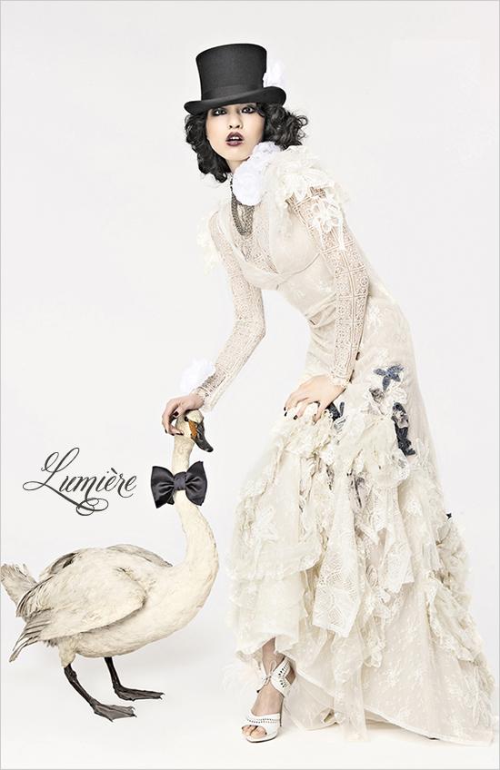 Дизайнерские свадебные платья Lumiere 2012 от Yolan Cris