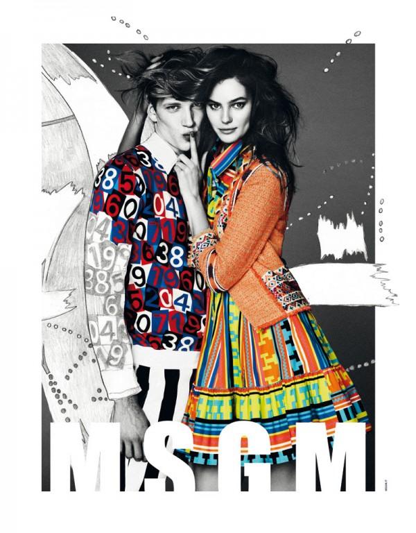 Рекламная кампания MSGM Весна-Лето 2013