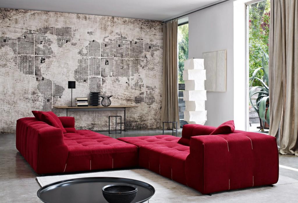 Стильный диван-кровать в различных интерьерах