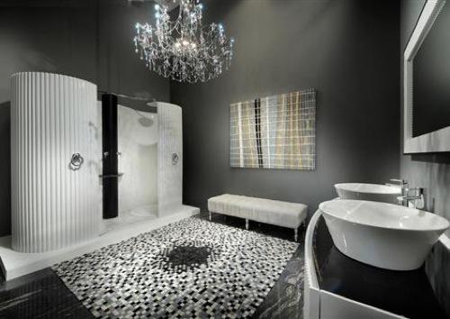 Стильный ремонт ванной с душевой кабиной