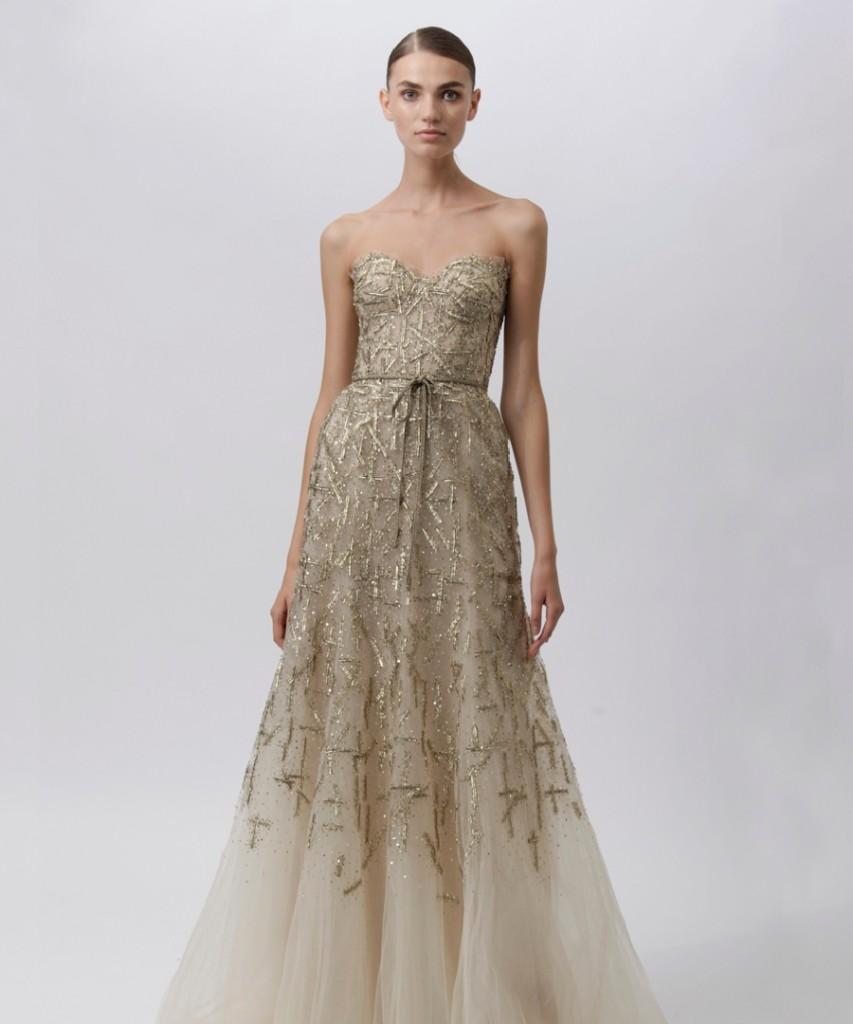 monique-lhuillier- Самые модные свадебные платья 2013