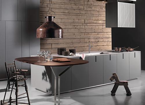 Стильный интерьер кухни в стиле Hi Tech