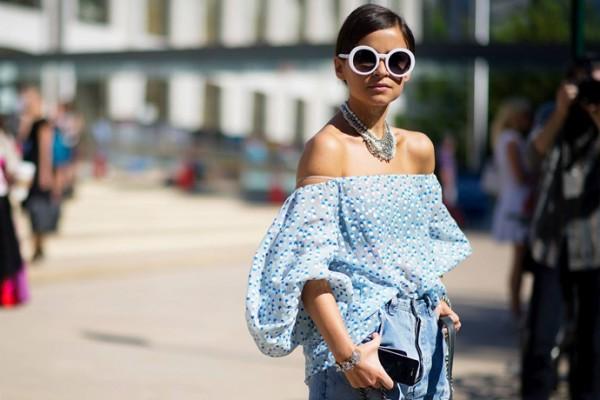 Модный тренд весна-лето 2013: спущенные плечи