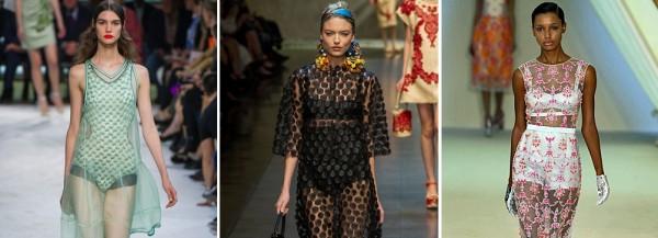 Прозрачные вечерние платья - тренд с подиумов