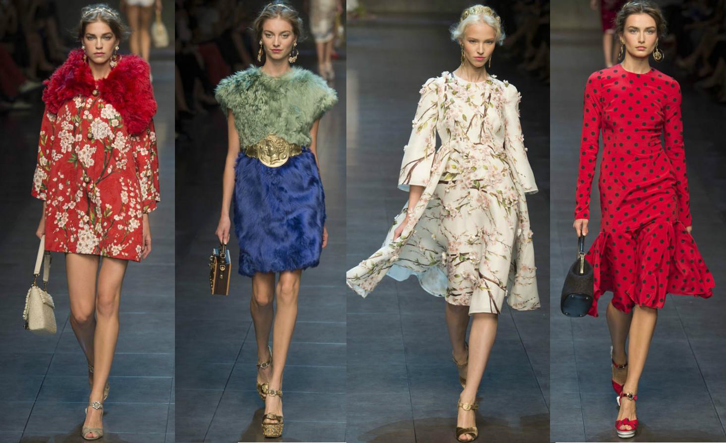 Коллекция Dolce & Gabbana 2014 на Весну-Лето