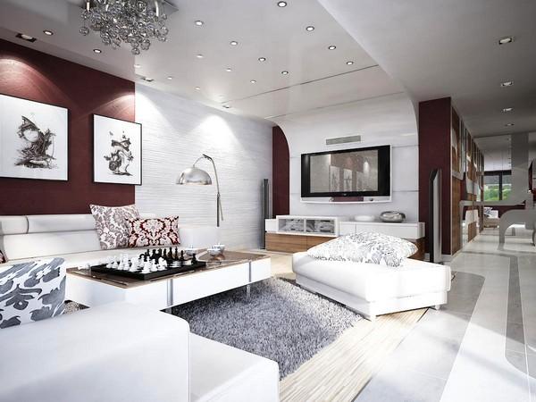 Украшение гостиной комнаты с помощью деталей
