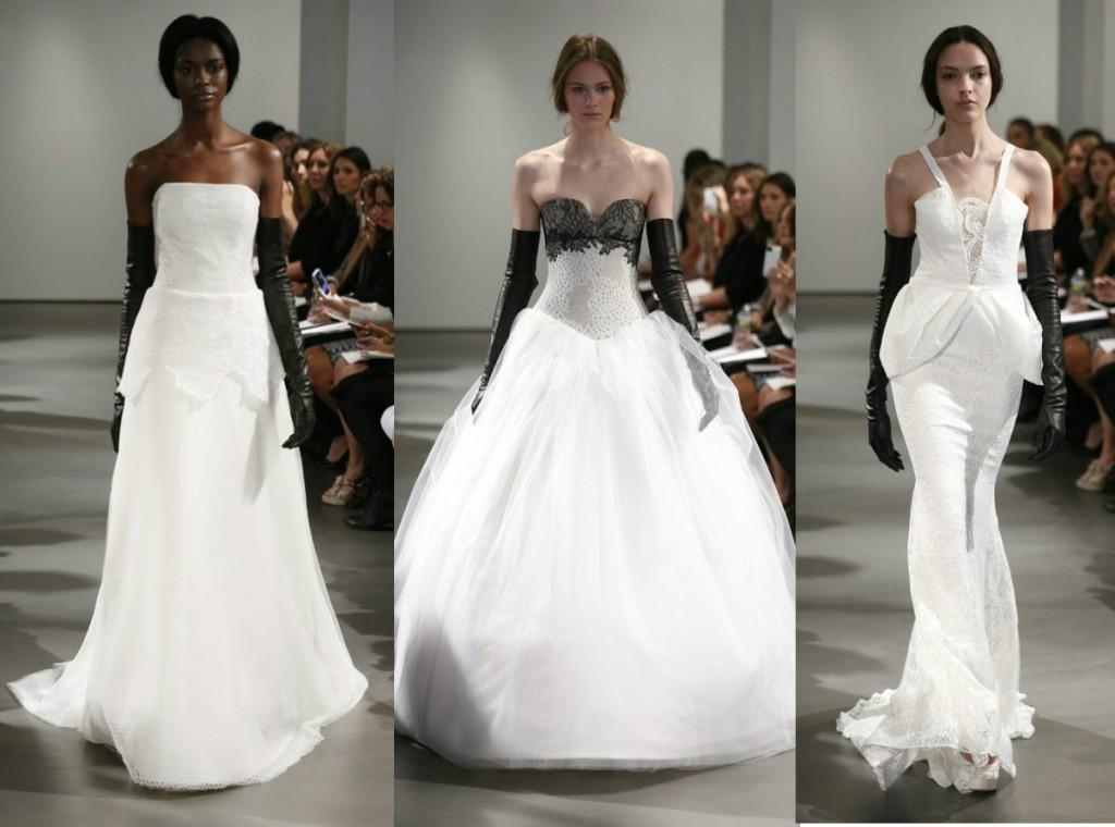 Монохромные свадебные платья Vera Wang Весна-Лето 2014