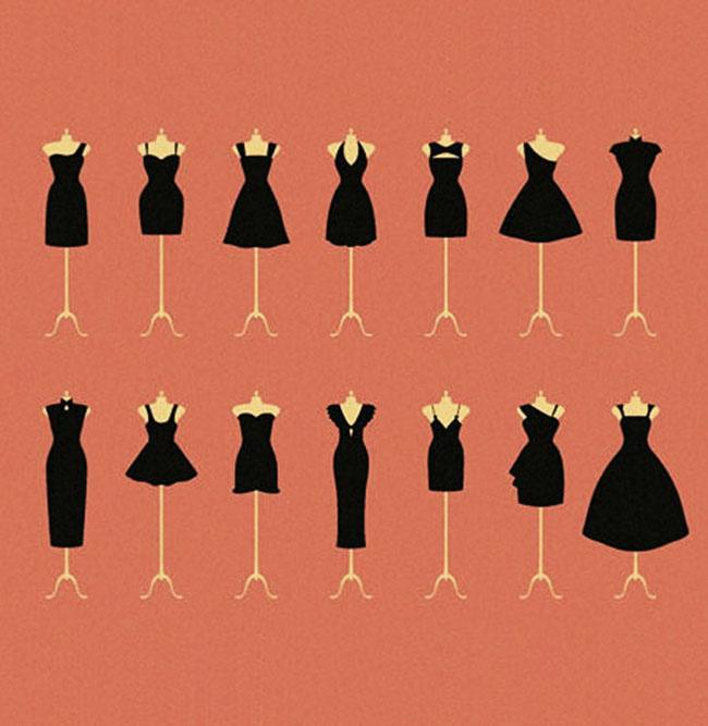 5 способов сочетания маленького чёрного платья с аксессуарами