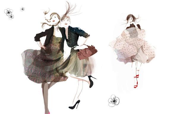 Фэшн иллюстрации от Sophie Griotto