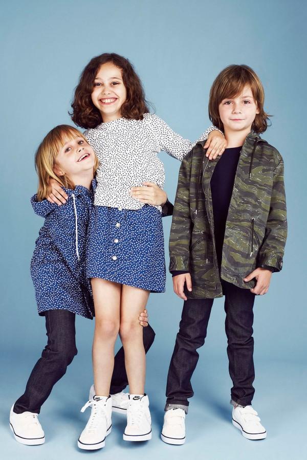 Коллекция детской одежды 2014 от бренда A.P.C. на весну-лето