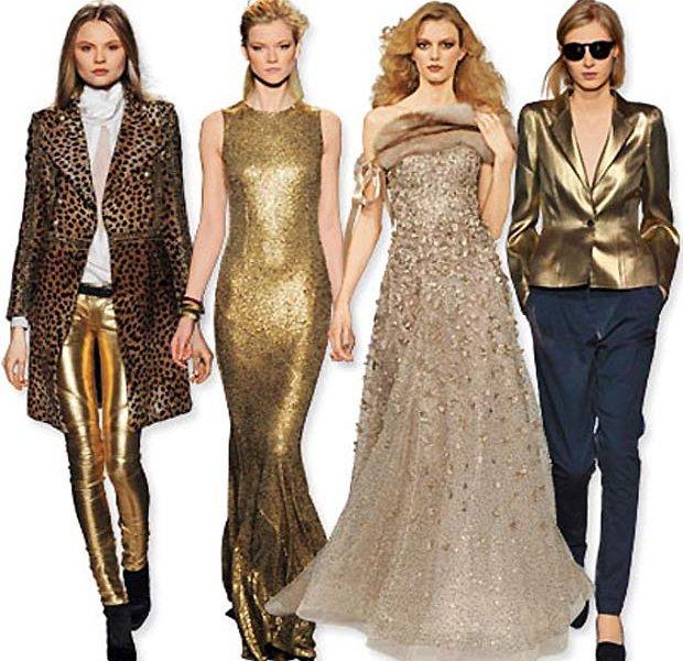 Модный золотой цвет весны-лета 2014 года