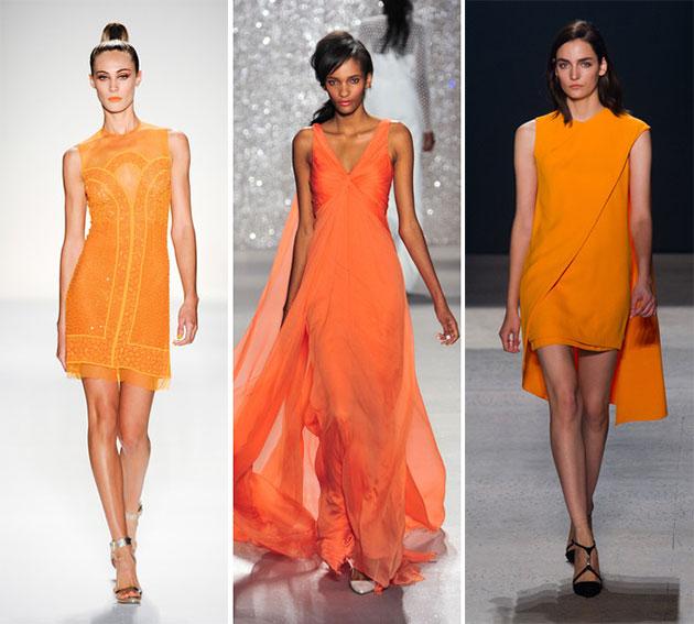 Модный морковный цвет весны-лета