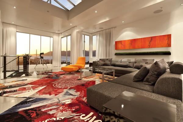 Яркие идеи для оформления гостиной в современном стиле