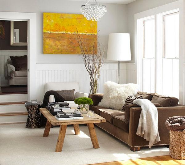 Образцы невероятного дизайна современной гостиной комнаты