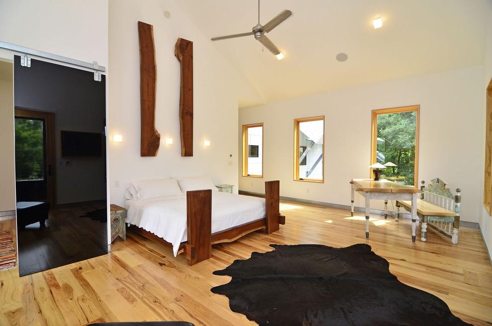 Природные материалы в интерьере спальни
