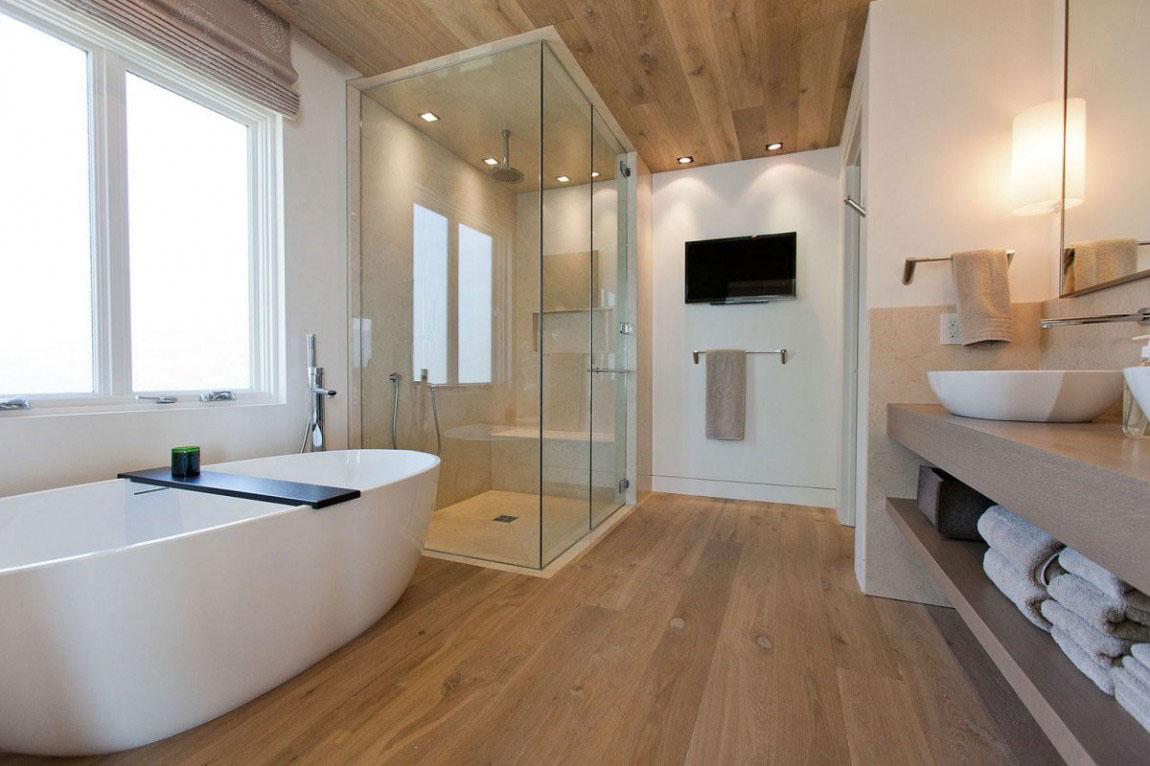Современный дизайн ванной комнаты на фото